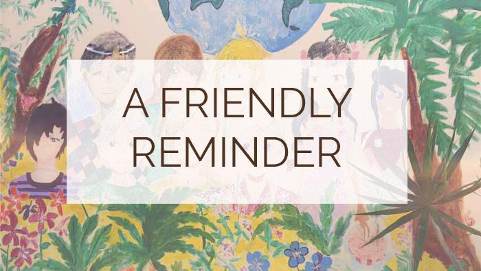 Reminders…
