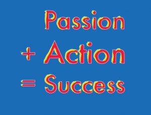 Clip art Passion + action = success