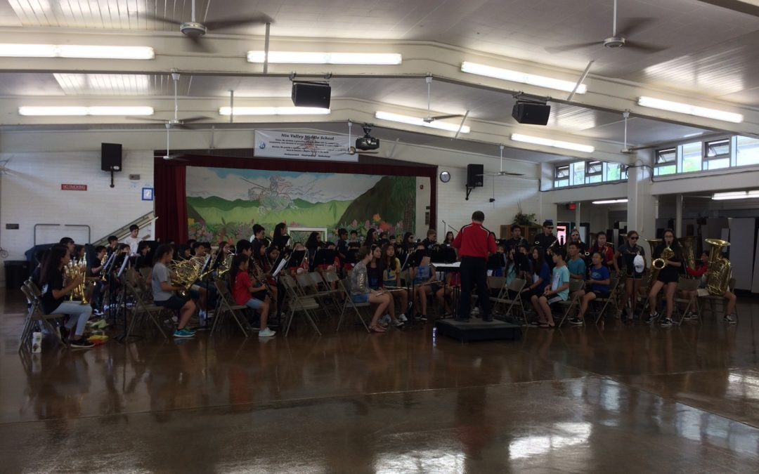 Band concert in the cafeteria