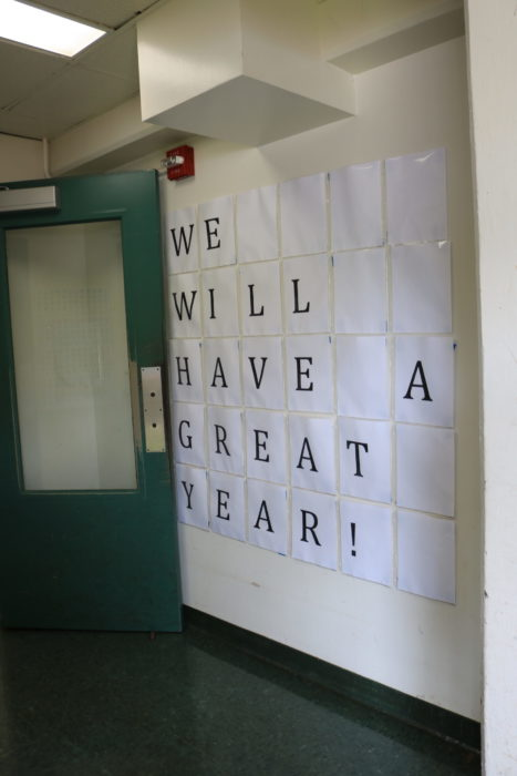 We Will Have A Great Year signage on wall